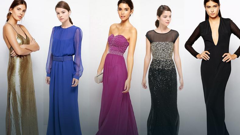 89e63a854aabd Suknia wieczorowa - długa, elegancka suknia - Moda