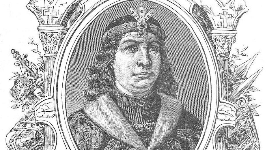 Władysław Laskonogi w cyklu Wizerunki książąt i królów polskich Ksawerego Pillatiego z 1888