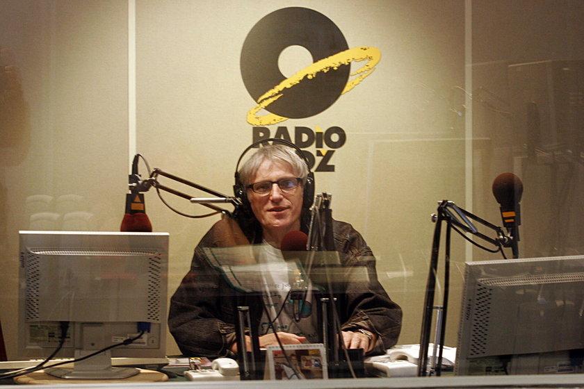 Jan Targowski w studio Radia Łódź