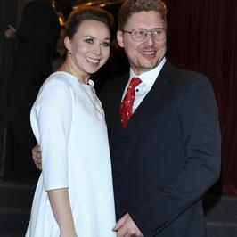Andrzej Nejman z żoną na premierze