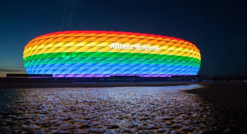 Munich-Arena aux couleurs LGBT