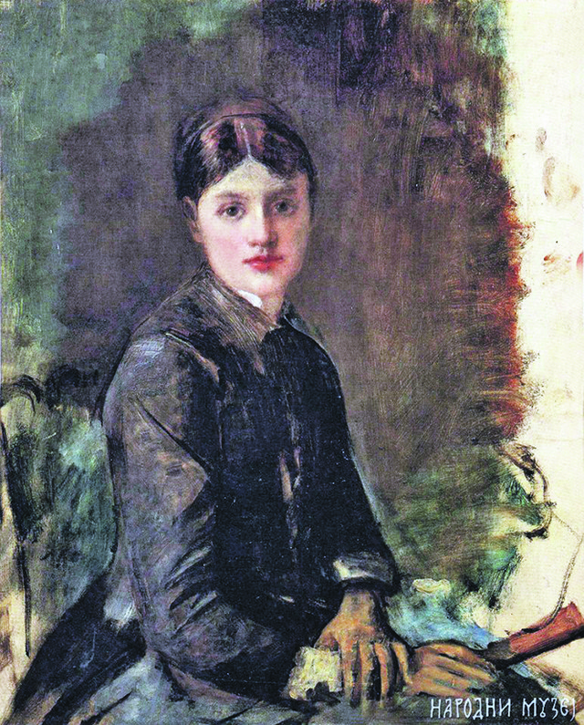 Annri de Tuluz-Lotrek: Portret mlade žene (negde oko 1883)