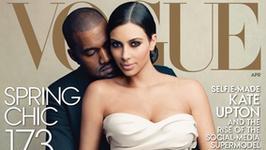"""Kim Kardashian w suknie ślubnej na okładce """"Vogue'a""""!"""