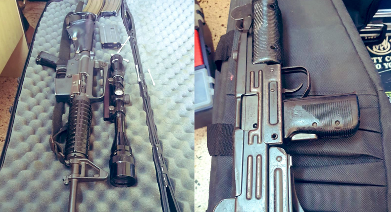 Mother, Daughter arrested with Sniper rifle & Submachine gun in Nairobi (Courtesy)