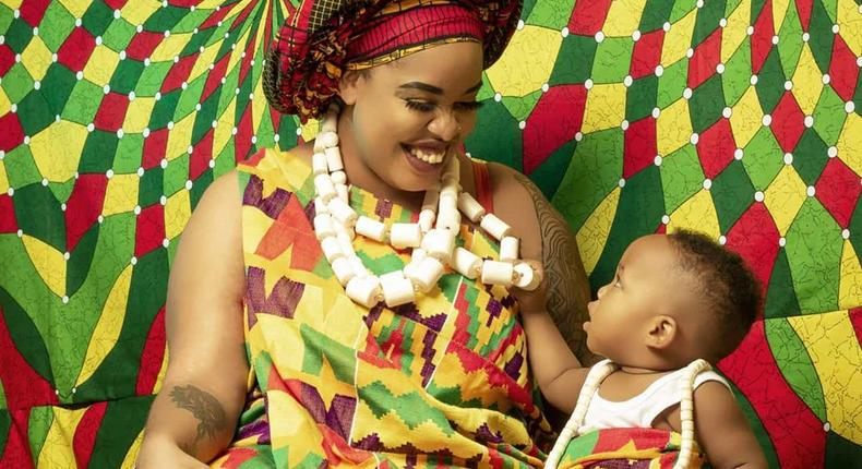 Bridget Achieng's son Sekani Rich looking all dapper as he turns 1 year old (Photos)