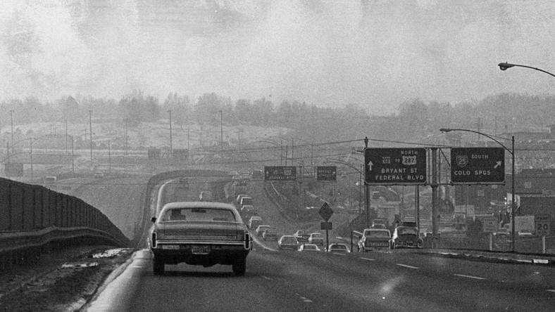 Smog over Denver in 1974.