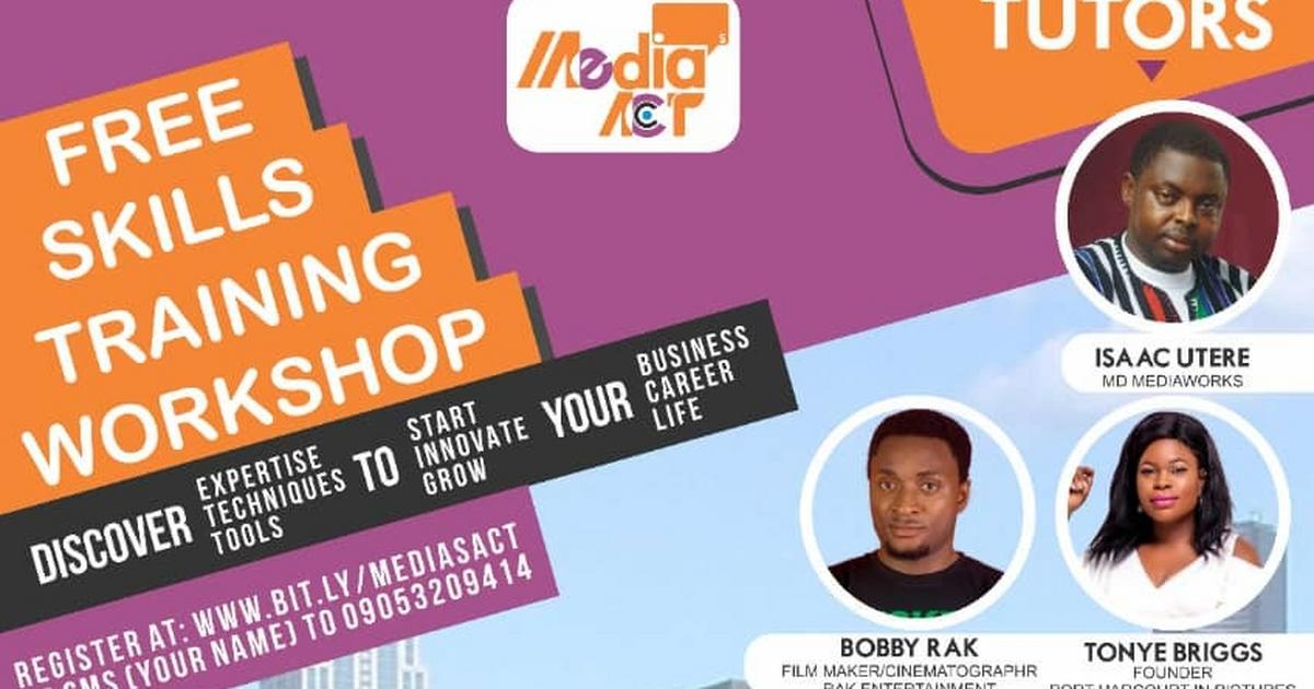 Media's Act: Skills training in the city of Port Harcourt and it is for free - Pulse Nigeria