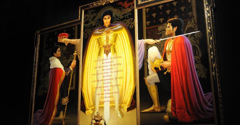 Obraz z Neverland na wystawie osobistych przedmiotów Jacksona zorganizowanej w 2009 roku w Londynie