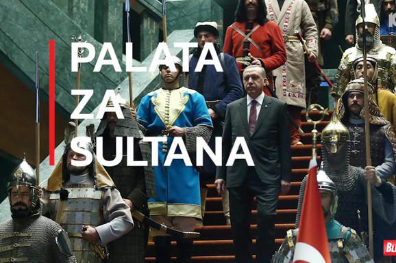 """""""SULTANOVO ČEDO"""" Zlato, kadifa, i NUKLEARNI BUNKER: Zavirite u Erdoganovu GRANDIOZNU NELEGALNU PALATU sa 1.100 soba"""