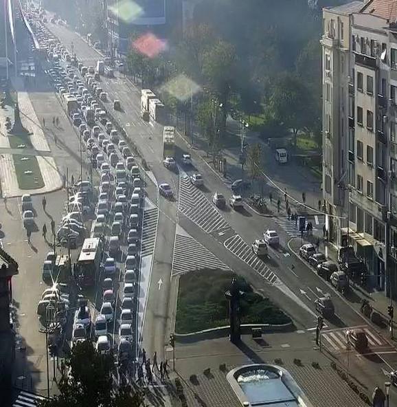 Čep na Trgu Nikole Pašića