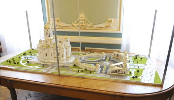 Maketa kompleksa oko katedrale u koji će moći da stane 150.000 ljudi