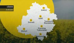 Prognoza pogody dla woj. łódzkiego - 24.09