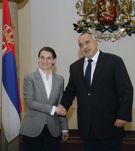 Ana Brnabić i Bojko Borisov tokom današnjeg susreta u Bugarskoj