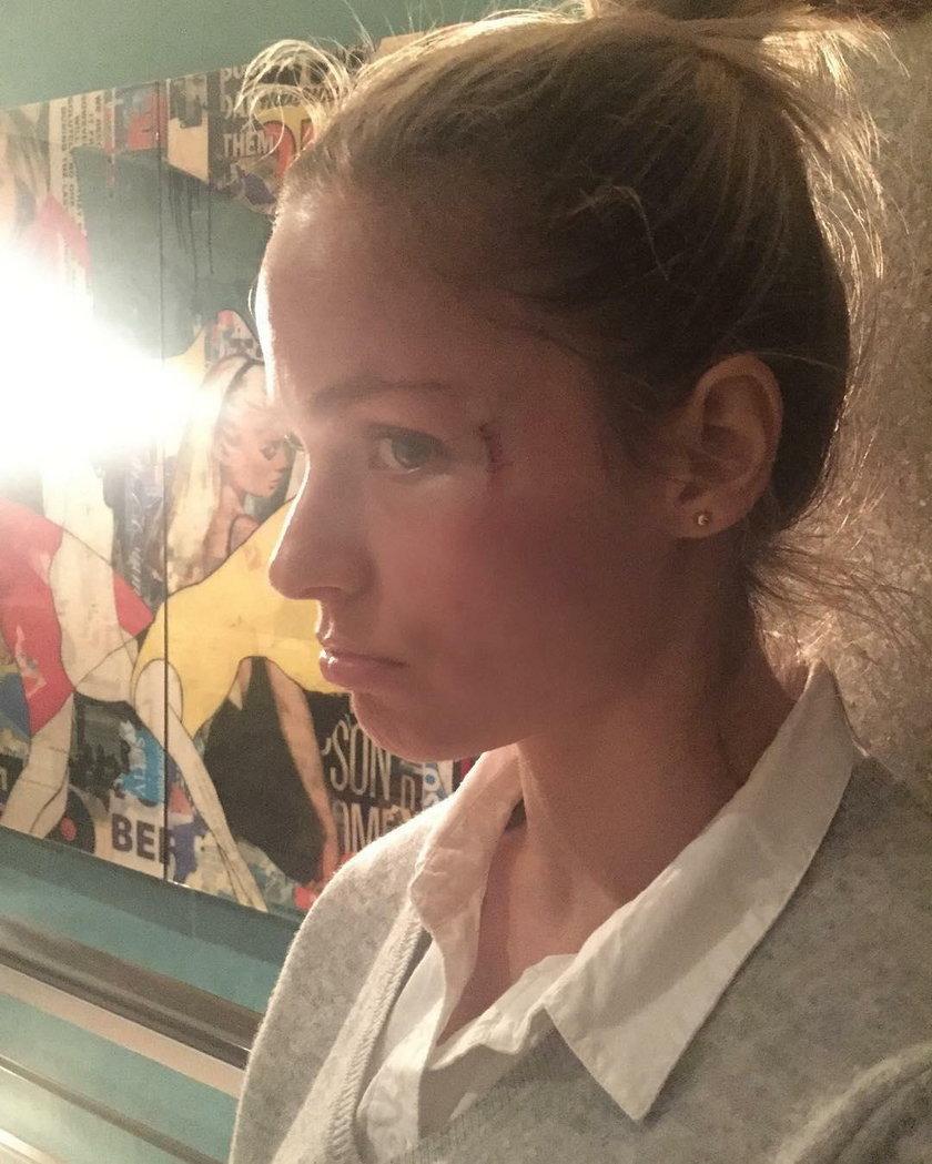 Ivana Surovcova dostała krążkiem od swojego partnera Mariana Gaborika