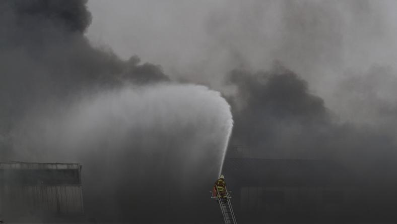 Nearly 200 firefighters battle a massive six-alarm fire at GE Appliance Park in Louisville