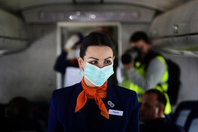 Stjuardesa, ilustracija
