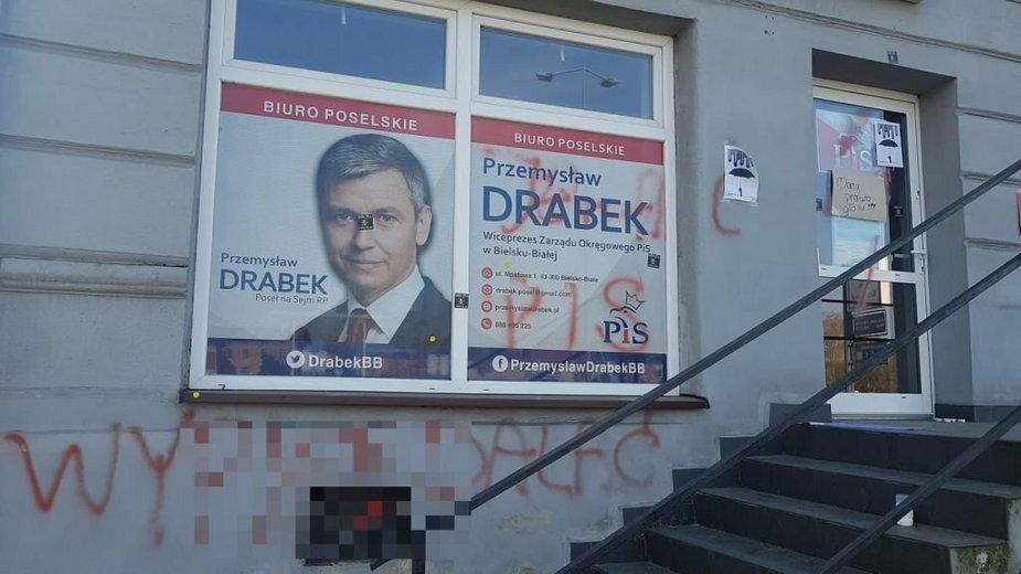 Wejście do biura Przemysława Drabka