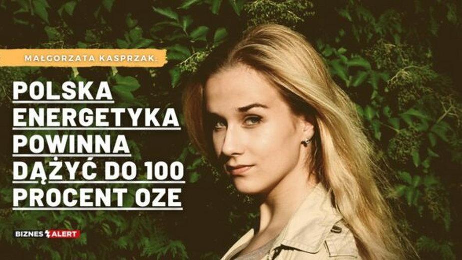 Małgorzata Kasprzak. Grafika: Gabriela Cydejko