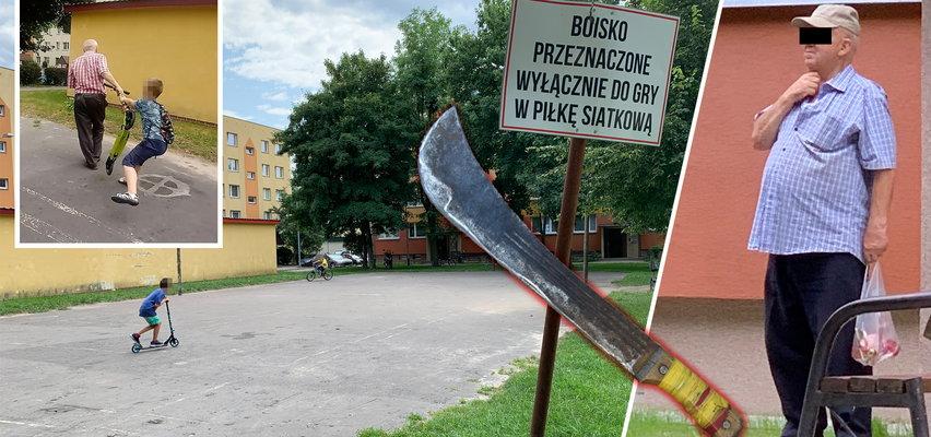 """Groza na placu zabaw w Tarnobrzegu. Szaleniec z maczetą przeganiał dzieci. """"Chciał nas oblać moczem"""""""