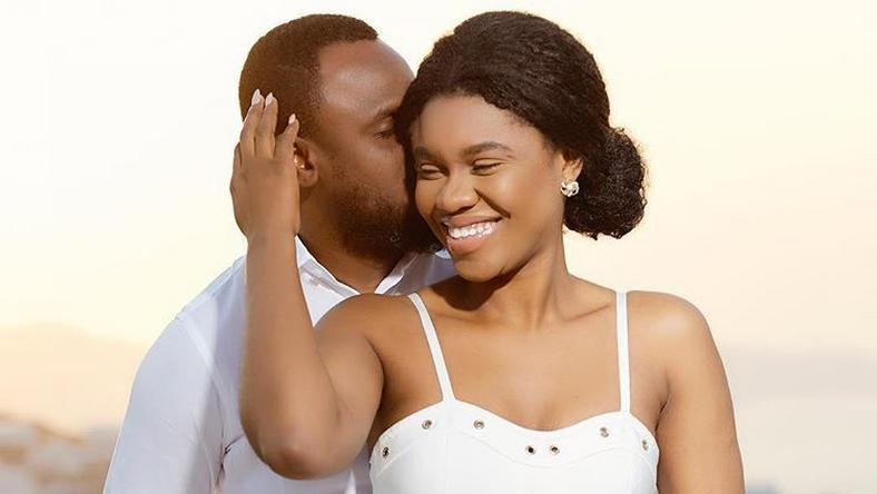 Becca with husband Daniel Oluwa Tobi Sanni