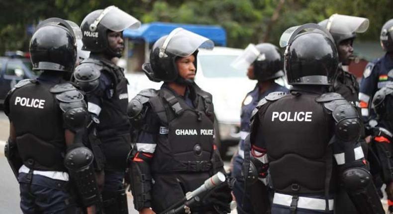 The police in Ghana
