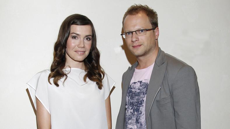 Olga Bołądź i Maciej Stuhr