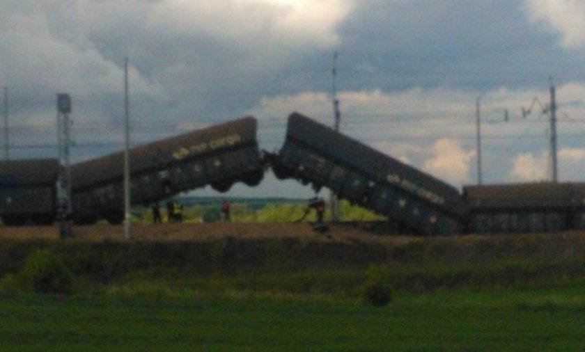 Katastrofa! Wykoleił się pociąg