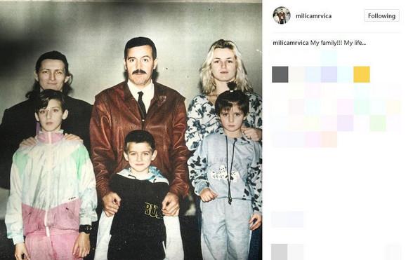 Milica Dabović sa porodicom