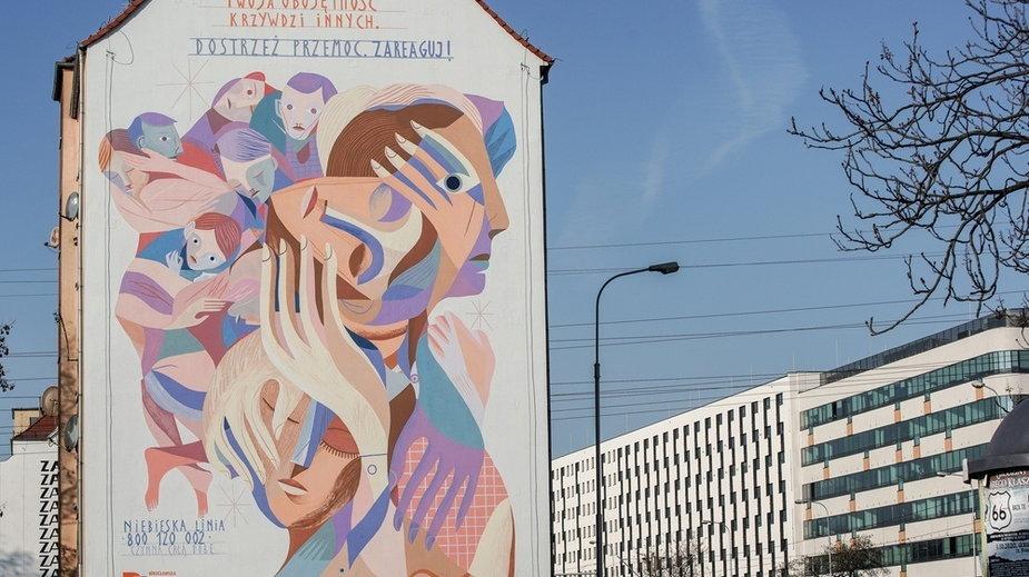 Mural przeciw przemocy odsłonięty we Wrocławiu