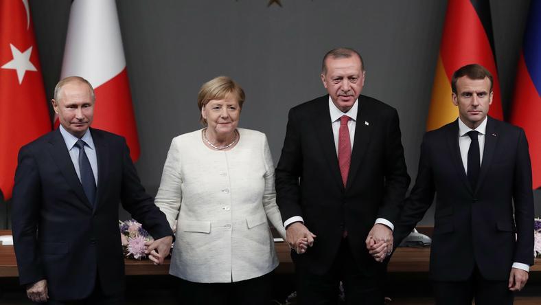 Putin, Merkel, Ergodan i Macron