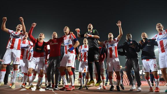 Slavlje crveno-belih posle meča protiv Bačke