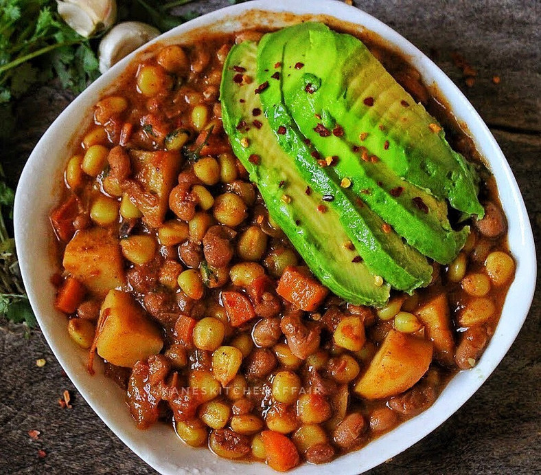 Githeri avocado(Kane's Kitchen Affair)