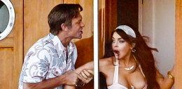 Lohan pokazała sutki jako... Liz Taylor
