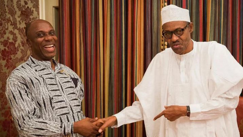 Image result for Amaechi thanks Buhari