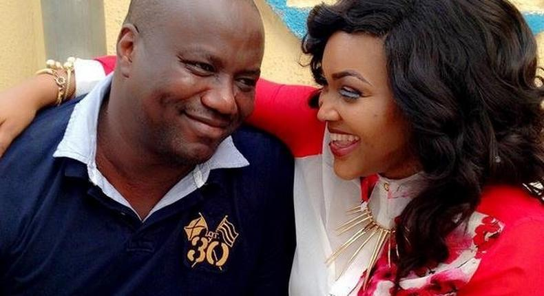 Mercy Aigbe and husband , Lanre Gentry