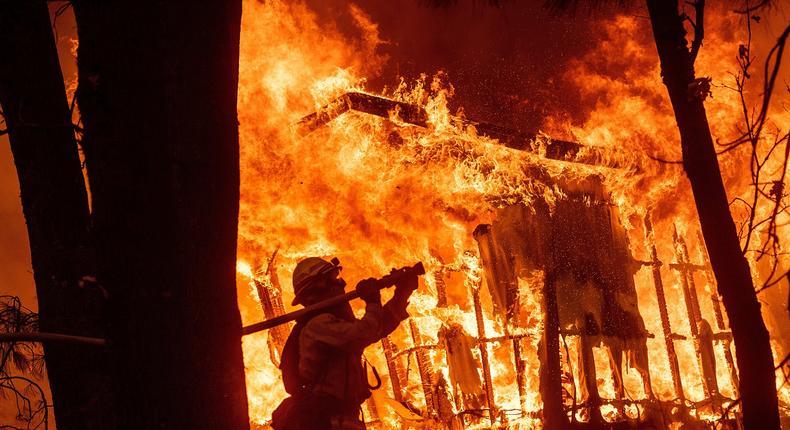 camp fire destruction