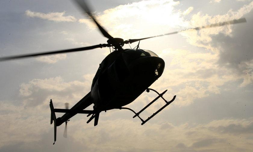 O mały włos od tragedii. 6-latek oślepił pilota helikoptera