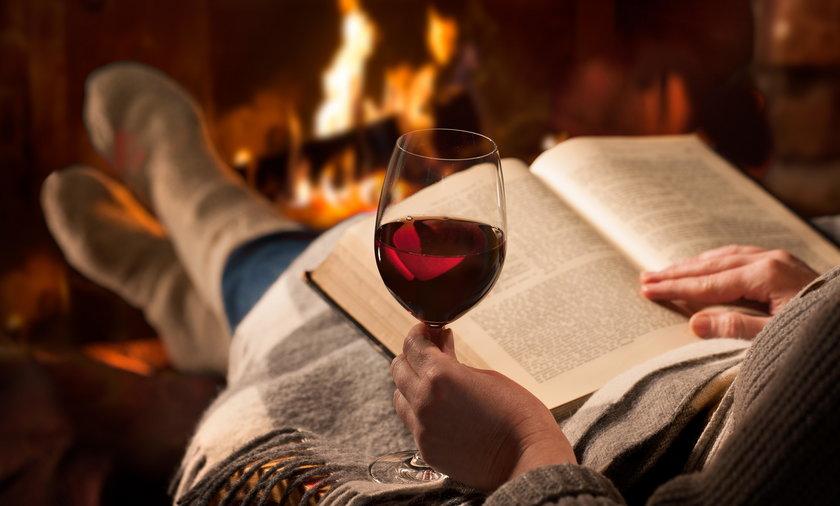 odpoczynek przy winie