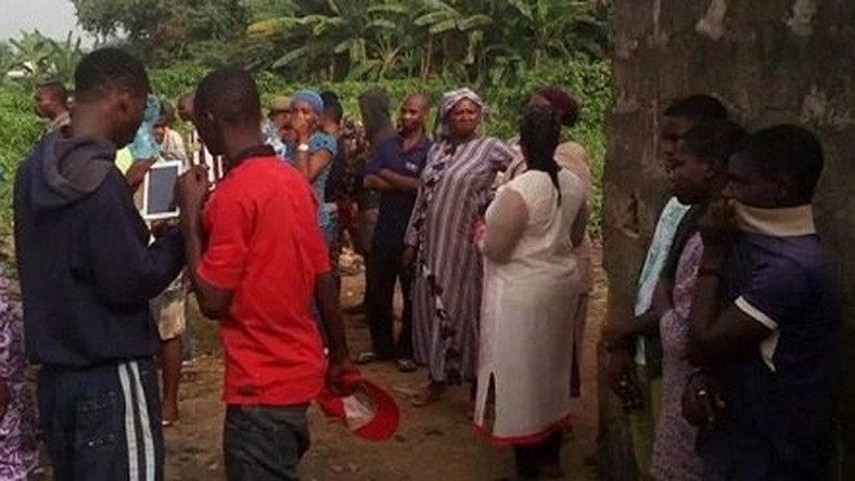 The scene of the discovery of female corpses in Ikorodu