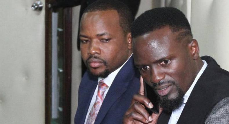 File image of McDonald Mariga with Lang'ata MP Nixon Korir