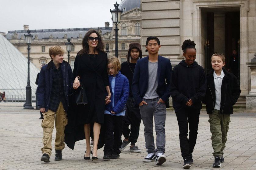 Angelina Jolie i jej dzieci
