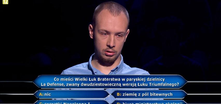 """""""Milionerzy"""" Konrad był o krok do miliona! Padło pytania za 500 tysięcy. Sprawdź, czy znasz odpowiedź."""