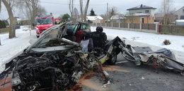 Tragiczny wypadek pod Wyszkowem. Nie żyje 35-letni kierowca
