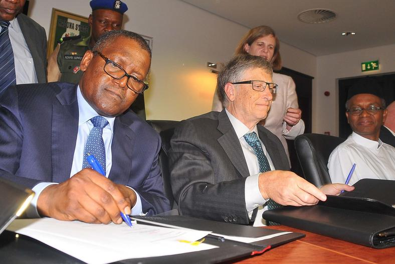Billionaire entrepreneurs, Aliko Dangote and Bill Gates