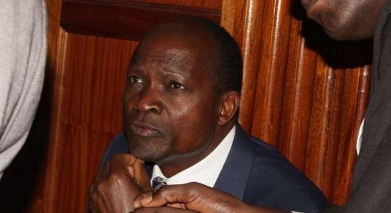 Migori Governor Okoth Obado during a past court session