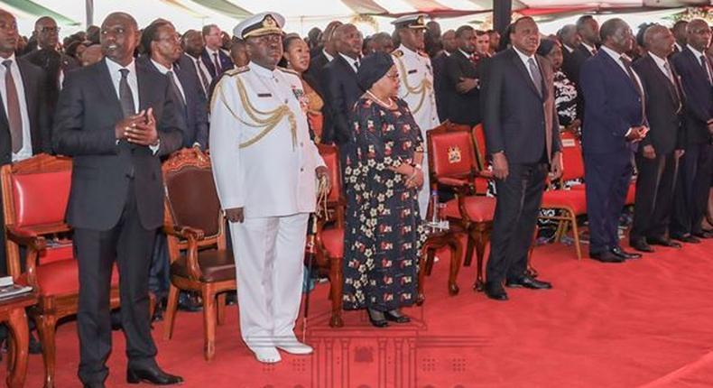 Tribute at Mzee Daniel arap Moi's funeral contradicts DP William Ruto on Uhuru concession speech
