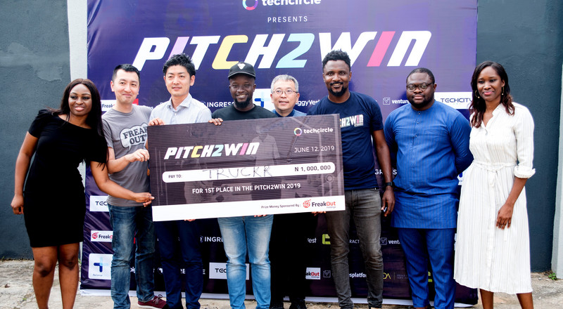 Ghanaian startup Truckrtech wins N1 million grand prize at TechCircle's Pitch2Win competition, 2019