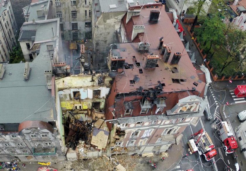 Zniszczona kamienica w Katowicach