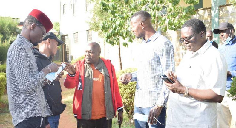 MPs Didmus Barasa, Samson Cherargei, Nelson Koech and Wilson Kogo after arrest in Matungu constituency