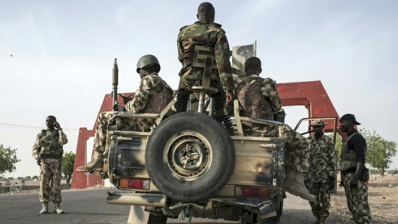 Nigerian soldiers on duty in the troubled northeast (Punch)